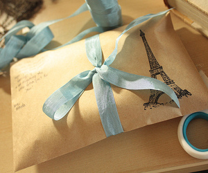 eiffel tower, photography, and ribbon image