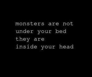 monster, quote, and head image