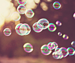 bubbles, summer, and sunset image
