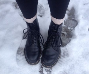 grunge, snow, and shoes image
