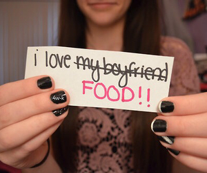 food, boyfriend, and text image