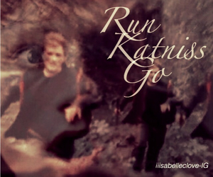 run, the hunger games, and katniss image
