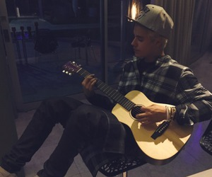 justin bieber, guitar, and justin image