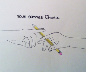 drawing and jesuischarlie image