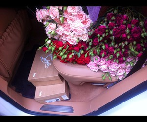 rose, flowers, and louboutin image