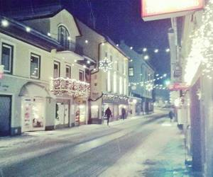city, snow, and bad aussee image