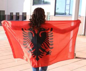 albanian, albaniangirl, and flag image