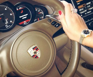 luxury, porsche, and rolex image