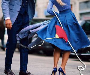 couple, fashion, and necklace image