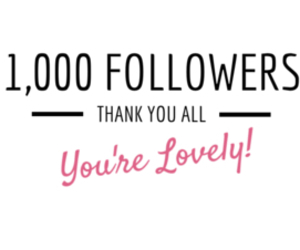 followers, thank you, and 1000 image