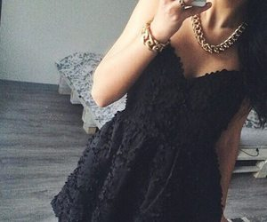 black, dress, and little image