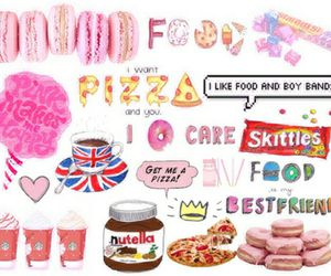 food, nutella, and pizza image
