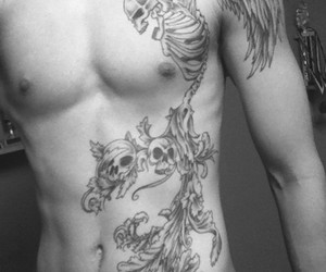 boy, skeleton, and tattoo image