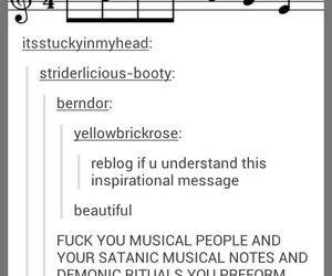 musical notes and tumblr post image