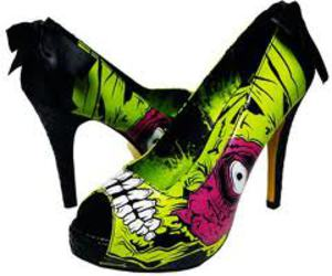 shoes, heels, and zombie image