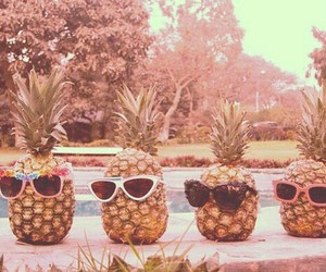 summer, sunglasses, and ananas image