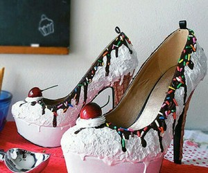 shoes, food, and ice cream image