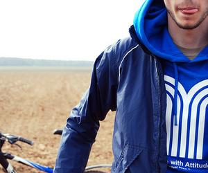 boy, bike, and blue image