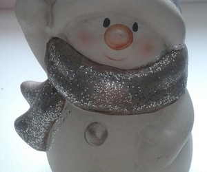 christmas, silver, and snowman image