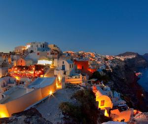 Greece, night, and santorini image