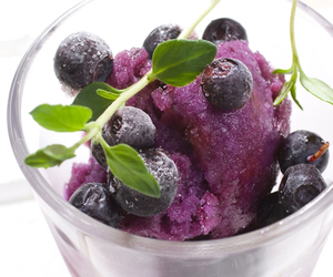 food, blueberry, and ice cream image