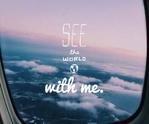 world, travel, and sky image