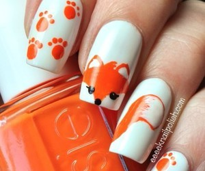 nails, orange, and fox image