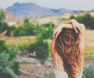 nature, hair, and tumblr image