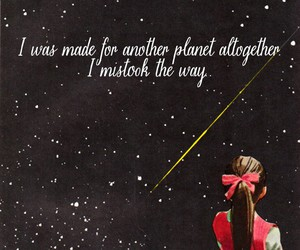 girl, planet, and poetic image