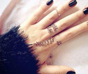 ring, black, and nails image