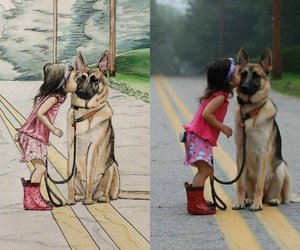 drawing, dog, and cute image