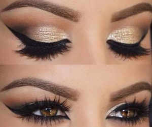 beautiful, eye makeup, and party image