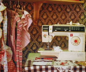sew, sewing, and clothes image