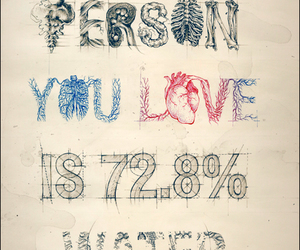 love, water, and person image