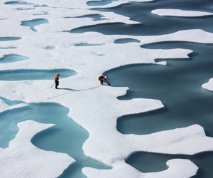 arctic, ice, and Ponds image