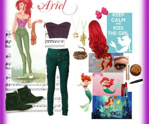 ariel, oufit, and disney image