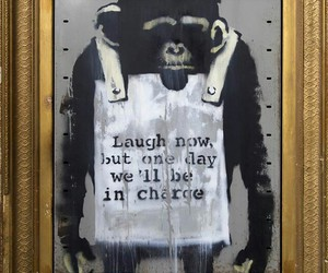 art, BANKSY, and charge image