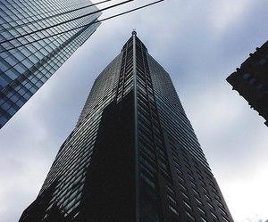 sky, city, and high image