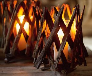 candle, autumn, and wood image