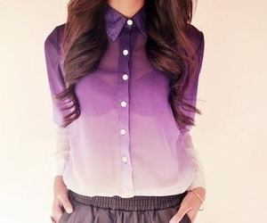 fashion, purple, and shirt image