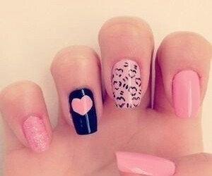 girly, leopard, and heart image