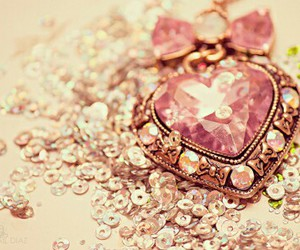 heart, pink, and diamond image