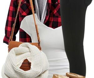 outfit, winter, and scarf image