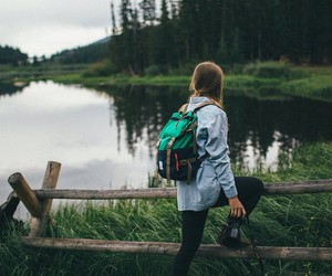 travel, adventure, and lake image