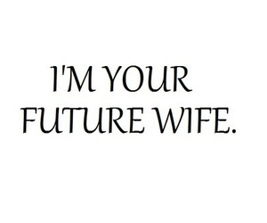 future, wife, and love image