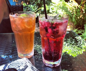 drink, summer, and red image