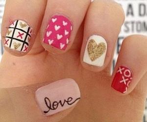 love, heart, and nail art image