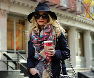 fashion, black, and scarf image