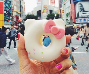 donuts, food, and hello kitty image