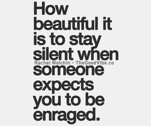 quote, beautiful, and silent image